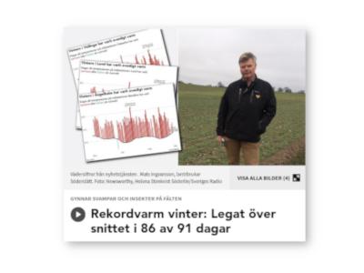 Sveriges Radio: En rekord varm vinter